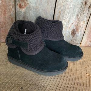 UGG Shaina Knit Fold Over Boots Girls Sz 2